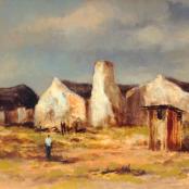 Klar, Otto   Houses and figure