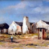 Sold   Klar, Otto   Houses on a landscape