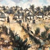 Sold   Koboka, Welcome   Rural Village, ABSOLUT ART GALLERY, www.absolutart.co.za