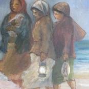 Sold   Langdown, Amos   3 Ladies on beach