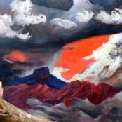 Sold | Laubscher, Erik (Frederik Bester Howard) | Rain storm ahead in mountains