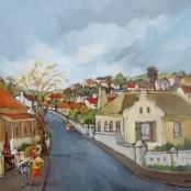 Sold  Louw, Kobus   Meulstraat winter toneel
