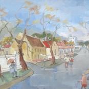 Sold   Louw, Kobus   Wet street scene