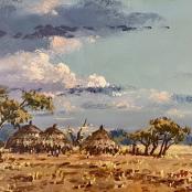 Klar, Otto | Landscape with huts