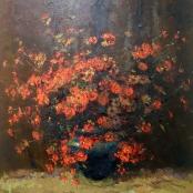 Boshoff, Adriaan | Still life of red flowers