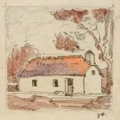 Sold | Pierneef, J.H. | Farmhouse, signed