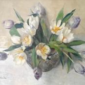 Sold   Oerder, Frans    White Tulips, signed