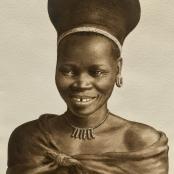 Bhengu, Gerard   Portrait of a young woman, signed