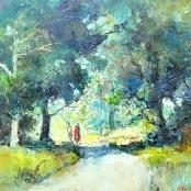 Sold  Fasciotti, Titta   Landscape with figures
