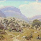 Sold | Mayer, Erich | Village in a landscape