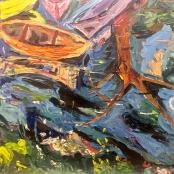 Beyers, Goe' | Orange boat and reflections