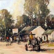 Sold | Nice, Christiaan | Donkey Cart passing shop
