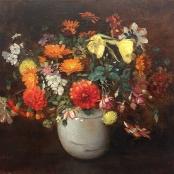 Sold |Oerder, Frans | Flowers in white vase