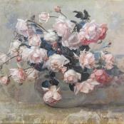 Sold| Oerder, Frans | Vase of Roses