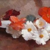 Sold   Oerder, Frans   Still life of flowers