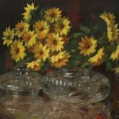 Sold | Oerder, Frans | Flowers in a glass vase