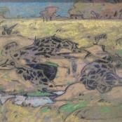 Sold  Pierneef, J.H   Near van der Howe's drift