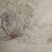 Sold | Pierneef, J.H | Sandrivier, Waterberg signed 1943