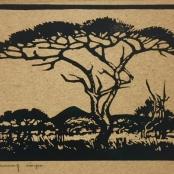 Sold   Pierneef, J.H   Tree landscape, dated 1920