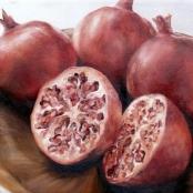 Sold | Raubenheimer, San-Mare | Still Life with pomegranates