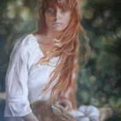 Sold | Raubenheimer, San-Mare | Girl with rabbit