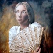 Sold | Raubenheimer, San-Mare | Lady with fan