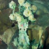 Sold | Serneels , Clement | White Roses in vase