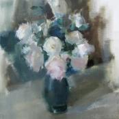 Sold | Serneels, Clement | White roses in vase