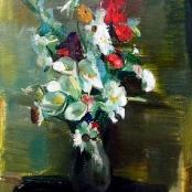 Sold |Serneels , Clement | Flowers in a vase