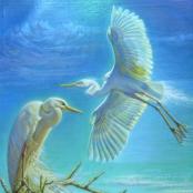 Sold | Tretchikoff, Vladimer | Two Egrets