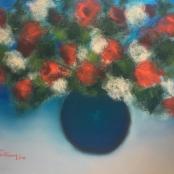 Sold | Van der Westhuizen, Pieter | Flowers in blue vase