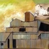 Sold   Van der Westhuizen, Pieter   Buildings on a landscape