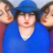 Sold   Van der Westhuizen, Pieter   Portrait of three ladies