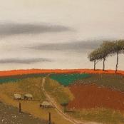 Sold | Van der Westhuizen, Pieter | Landscape with sheep