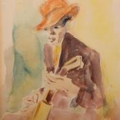 Sold | Van Essche, Maurice | Portrait of a Guitarist
