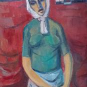 Van Essche, Maurice | Vrou met kop doek, Congo