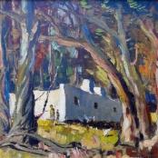 Sold   Van Heerden, Piet   Hut between trees