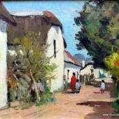 Sold | Van Heerden, Piet | Figures in the street