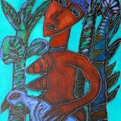 Sold | Vermeiren, Jan | Lady and bird